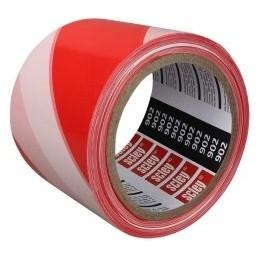 Juosta 80mmx100m pavojingų zonų aptverimui raudona-balta SCLEY