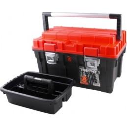 Dėžė įrankiams PATROL HD Trophy1, raudona su metaliniu užraktu PA-9096