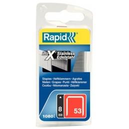Kabės Nr.53, 8mm 1080vnt nerudijančio plieno RAPID Nr.53