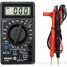 Multimetras 0-500V, 0-5A, 0-2000 Om VOREL Y-81780