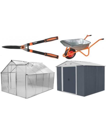 SODO ĮRANKIAI, Sodo įrankiai, šiltnamiai, įrankių